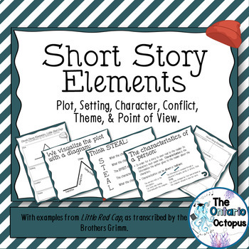 Short Story Elements - Presentation & Organizers - Little Red Cap examples