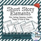 Short Story Elements - Presentation & Organizers - Little