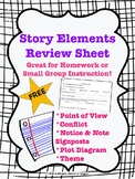 Short Story Elements Review Sheet