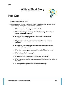 Short Story Fiction Writing Project