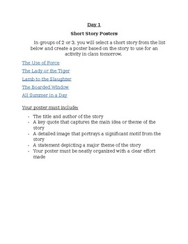 Short Story Group Project