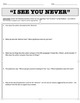 """""""I See You Never"""" by Ray Bradbury Reading Questions and Answer Key"""
