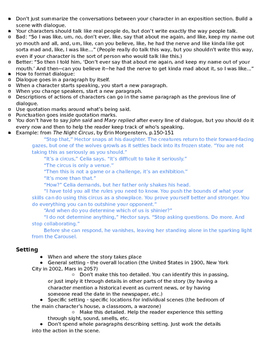 Short Story Instructions and Rubric