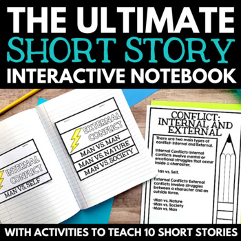 Short Story Interactive Reading Notebooks - Literary Elements for Common Core