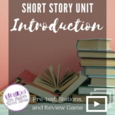 Short Story Introduction: Pre-Test, Literary Terms, and Review