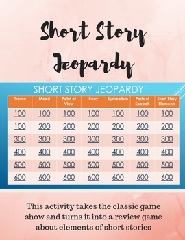 Short Story Jeopardy: A Review Game