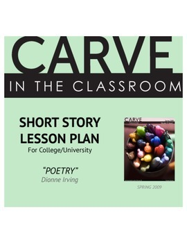 """Short Story Lesson Plan, """"Poetry"""" - Carve in the Classroom"""