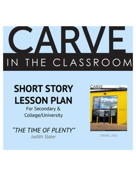 """Short Story Lesson Plan, """"The Time of Plenty"""" - Carve in the Classroom"""