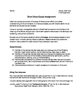 Easy Persuasive Essay Topics For High School Short Story Literary Analysis Essay Businessman Essay also Essay On Importance Of English Language Short Story Literary Analysis Essay By Megan Altman  Tpt Essay Writing Topics For High School Students