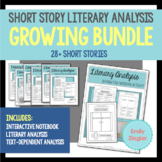 Short Story Literary Analysis Graphic Organizers *GROWING* Bundle