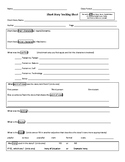 Short Story Literary Elements Tracking Sheet
