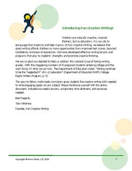 Creative Writing Sample Lesson Plan  (Short Story Mania)