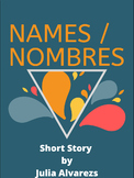 """Short Story """"Names Nombres"""": Digital Text w/ Annotation & Reading Activities"""