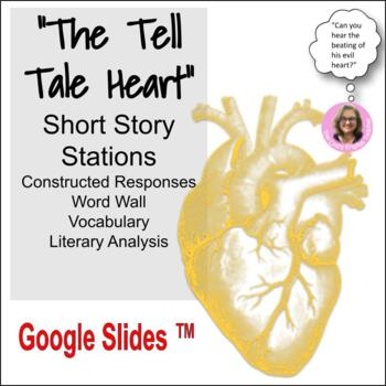 """""""The Tell Tale Heart"""" By: Edgar Allan Poe:Word Wall,Constructed Response,DBQ"""