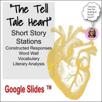 """The Tell Tale Heart"" By: Edgar Allan Poe:Word Wall,Constr"
