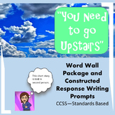 """Short Story Package: """"You Need to go Upstairs"""": Word Wall/Constructed Response"""