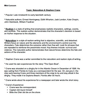 Short Story Packet #3 - Core Knowledge Short Stories 8th grade