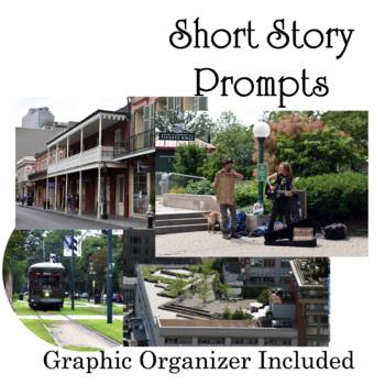 Short Story Photo Prompt - 5 Creative Writing Worksheets - no-prep!