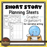 Short Story Planning Sheets - Graphic Organizers for Narra