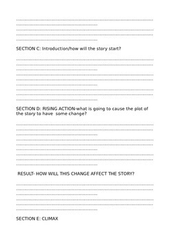 Short Story Planning Sheets-How to Make Narratives