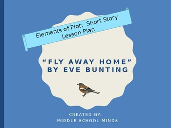 "Short Story Plot Diagram for ""Fly Away Home"" by Eve Bunting"