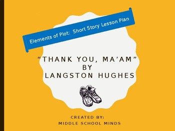 """Short Story Plot Diagram for """"Thank you, Ma'am"""" by Langston Hughes"""