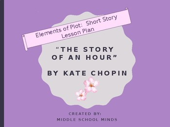"""Short Story Plot Diagram for """"The Story of an Hour"""" by Kate Chopin"""