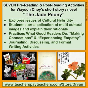 """Short Story Pre-Reading Activity for """" The Jade Peony """" by"""