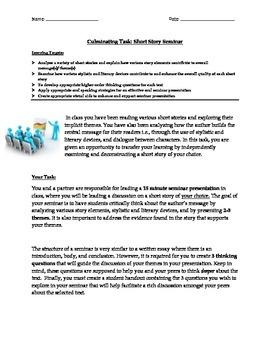 Short Story Seminar Culminating Task