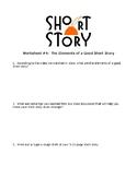 Short Story Sheet #4 - Short Story Elements
