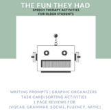 Short Story Speech Activities for Middle School: The Fun They Had