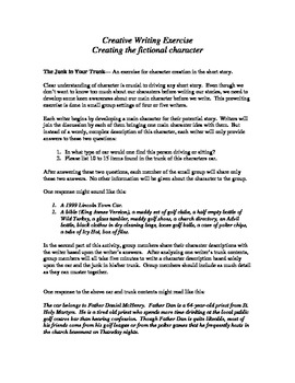 Short Story Starter--Creating the Protagonist