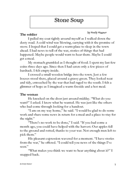 image relating to Stone Soup Story Printable named Small Tale Stone Soup