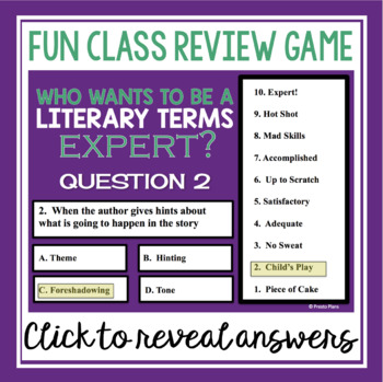 STORY ELEMENTS PRESENTATION, REVIEW GAME, & QUIZ