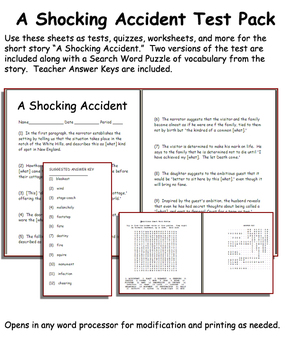 Short Story Test: A Shocking Accident by Graham Green