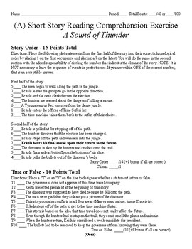 Short Story Test - A Sound of Thunder