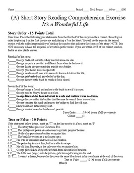 Short Story Test - It's A Wonderful Life