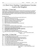 Short Story Test - Lamb to the Slaughter