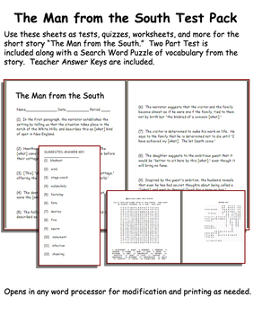Short Story Test Pack: The Man From the South