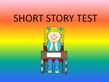 Short Story Test-- Answer Key Included