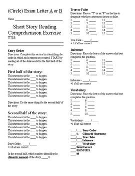 Short Story Test - School Spirit