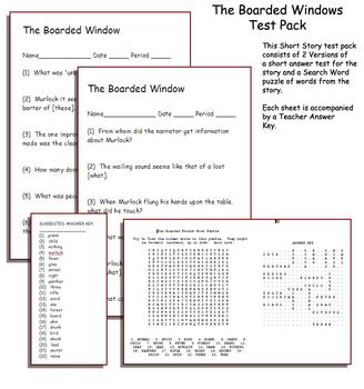 Short Story Test: The Boarded Window by Ambrose Bierce