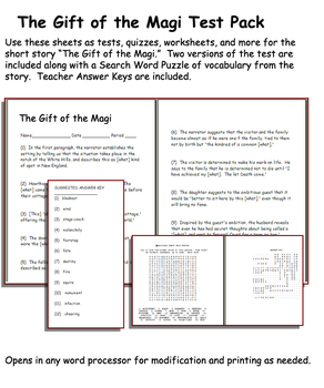 Short Story Test: The Gift of the Magi by O' Henry