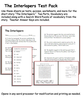 Short Story Test: The Interlopers by Saki