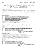 Short Story Test - The Ransom of Red Chief