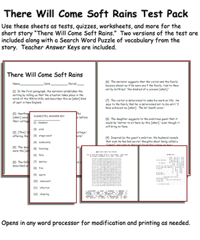 Will Come Soft Rains Worksheet - resultinfos