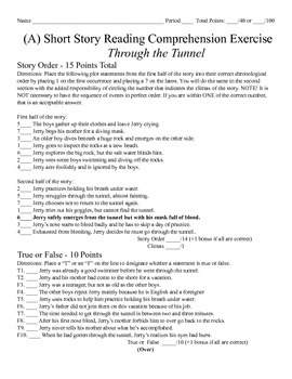 Short Story Test - Through the Tunnel