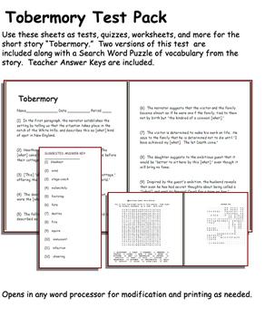 Short Story Test: Tobermory by Saki