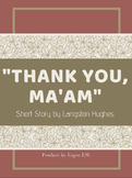 """Short Story """" Thank you, Ma'am """" Digital Text w/ Annotation & Reading Activities"""