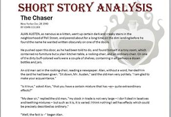 Short Story: The Chaser (and plot graph)